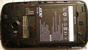 разобрать Acer Liquid E2 Duo