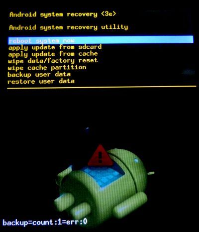 Hard Reset Acer Iconia One 7
