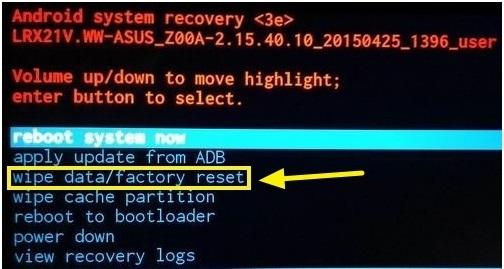 Hard Reset Asus Zenfone 3 Laser ZC551KL