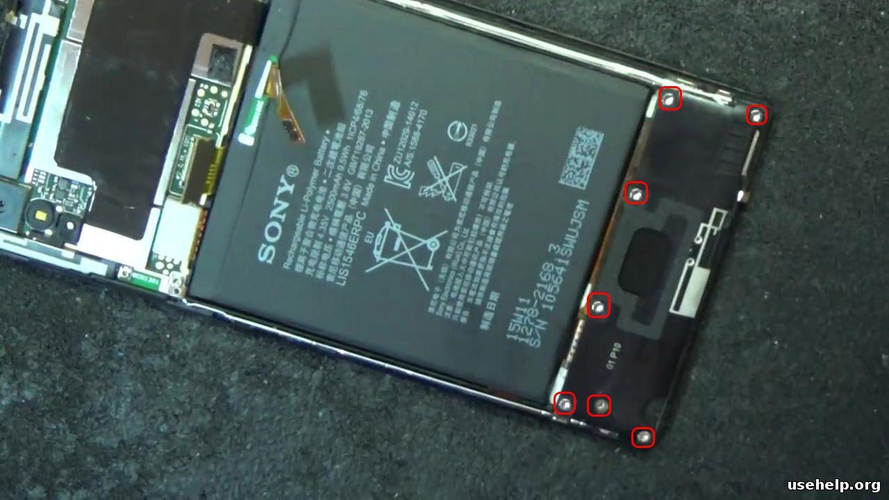 как разобрать Sony Xperia T3