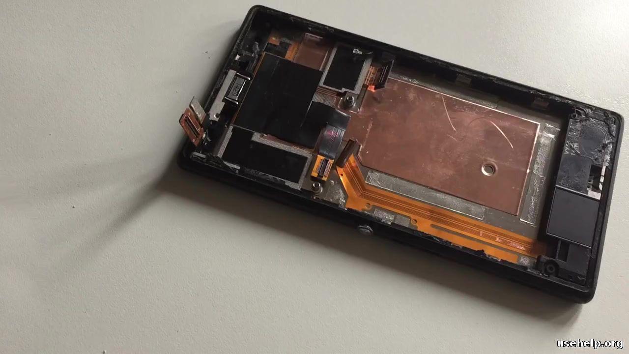 как разобрать Sony XPERIA M2_D2303