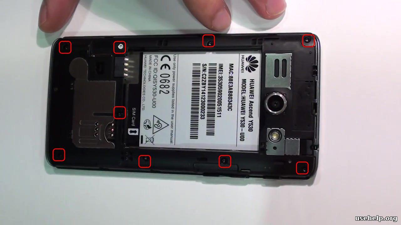 как разобрать Huawei Y530
